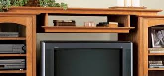 31 md 00412 entertainment center bridge and shelf woodworking