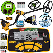 garrett ace 400 metal detector water proof coil headphones u0026 free