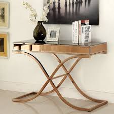 Overstock Sofa Tables Furniture Of America Orelia Luxury Copper Metal Sofa Table Free
