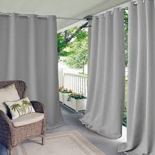 elrene semi opaque luna light gray linen look window curtain 52