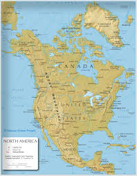 Map Of North America With Mountains by Landforms Of North America Mountain Ranges Of North America Map