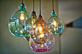 Turquoise Glass Pendant Light Blown Glass Pendant Light With Hand Lights Australia Tequestadrum