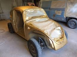 gold volkswagen beetle volkswagen uk warms hearts with beetle story and restoration