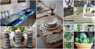 craft for home decor unimaginable stone craft home decor ideas that will amaze you