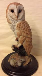 country artists owl figurine oak leaf acorn ca06317 wildlife