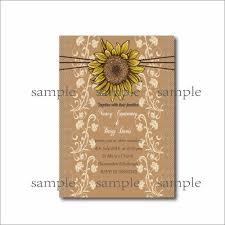 sunflower wedding invitations 20 pcs rustic country sunflower wedding invitations lace bridal