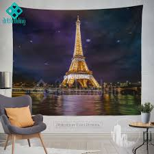wall murals wall tapestries canvas wall art wall decor tagged paris golden lights wall tapestry eifel tower at night wall tapestry paris wall decor cityscape interior artbedding cityscape wall decor