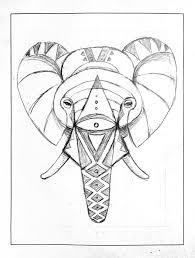 geometric elephant skillshare projects