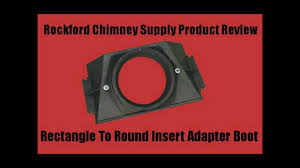 wood stove chimney adapter boot rectangle to round by rockford