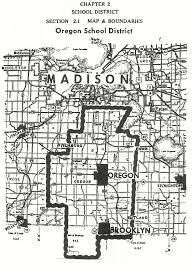 map of oregon wi oregon school district map 1846 1998 oregon area historical society
