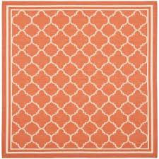 Outdoor Rug Square Orange Square Outdoor Rugs Rugs The Home Depot