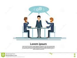 M El Schreibtisch Wirtschaftler Gruppieren Arbeitenden Kreativen Team Business