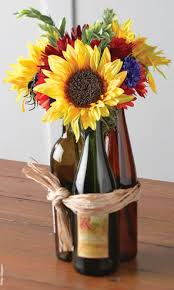 Centerpieces 50th Birthday Party by Wine Bottles Used As 50th Birthday Party Decorations See More