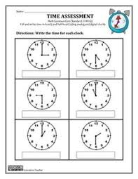 telling time assessment worksheet time assessment grade 1 1 md 3 math math magic and