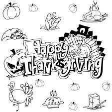 doodle happy thanksgiving stock vector illustration of
