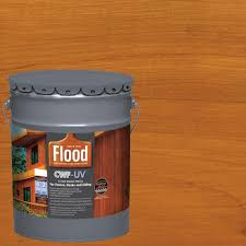 Home Depot Paint Prices by Flood 5 Gal Cedar Tone Cwf Uv Oil Based Exterior Wood Finish