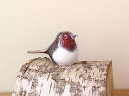 glass robin ornament paperweight sculpture country gift ebay