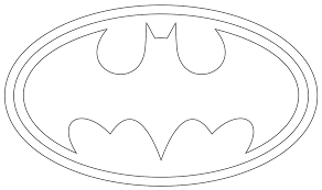batman symbol coloring page 6269
