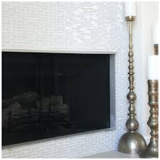 glass tile fireplace surround pictures subway white bungalow