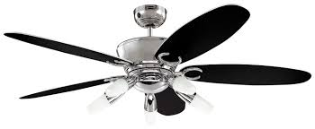 Black Ceiling Fan With Light Ceiling Amusing Black And Silver Ceiling Fan Silver Standing Fan