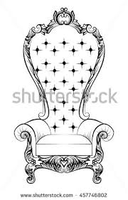 baroque luxury style furniture dressing table stock vector
