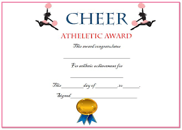 20 free printable cheerleading certificate templates for coaches