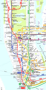 Mta Queens Bus Map Manhattan Subway Map With Streets Mtafo Travel Maps And Major