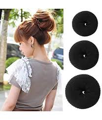 hair puff homeoculture combo of 7 hair accessories 3 donuts 1 magic puff 1