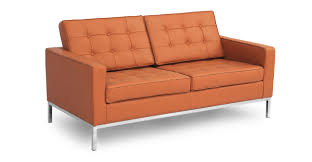 Luxe Sofa Frame Florence Loveseat Luxe Camel Leather Kardiel