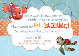 little man birthday invitations finding nemo invitation template free