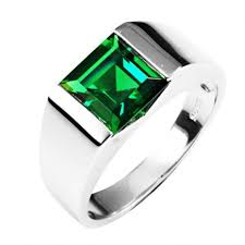 silver ring for men 2 34ct russian nano emerald wedding sterling silver ring for men s