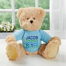 engraved teddy bears personalized teddy for baby boy baby birth info baby gifts
