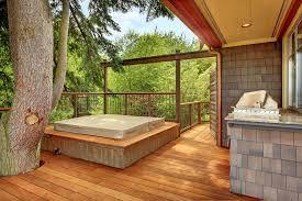 deck around tree craftsman with refill gazebo bird feeders
