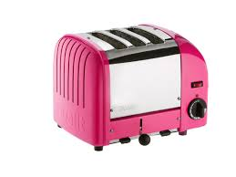 English Toaster Chilli Pink 3 Slice Toaster 3 Slot Vario Toaster From Dualit