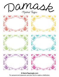 printable name tags printable damask name tags