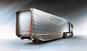 concept semi truck mercedes aero trailer concept increases semi fuel efficiency 40734 1