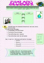 english teaching worksheets ecology