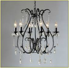 Black Metal Chandeliers Black Wrought Iron Chandelier Lighting Home Design Ideas