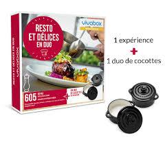 coffret cadeau cours de cuisine coffret cadeau resto et délices en duo box gastronomie vivabox