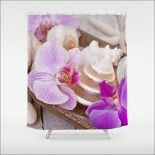 Seashell Curtains Bathroom Bathroom Magnificent Sunset Shower Curtain Real Seashell