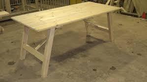 Vintage Trestle Table Acehighwinecom - Trestle table design