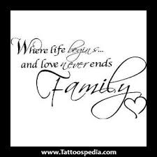 family quotes and sayings tattoos