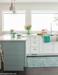 coastal cottage style spring kitchen tour the happy housie