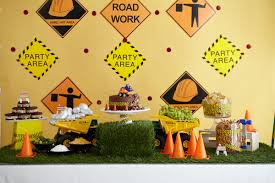 kids get to work at a construction themed birthday party evite