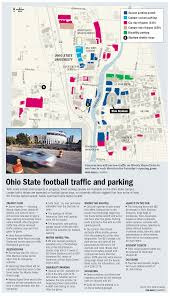 Osu Parking Map Buckeye U0027s Ohio State Sports Page