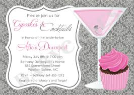 cupcakes and cocktails bridal shower invitation invite