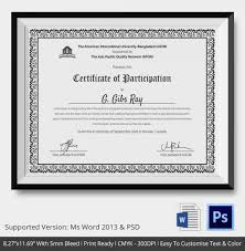best certificate of participation template word photos resume