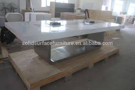 Modern Conference Room Tables by Tell World Modern Office Furniture Stainless Steel Leg White