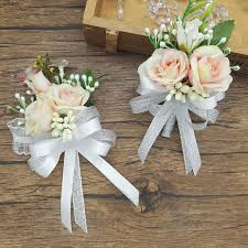 corsages and boutonnieres for prom 2018 2017 new white pink party corsages prom groom wedding