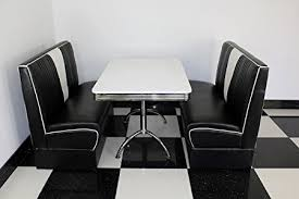 diner style booth table american diner furniture 50s style retro white table and black